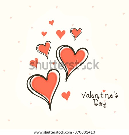 Shutterstock Creative hearts decorated beautiful greeting card design for Happy Valentine's Day celebration.