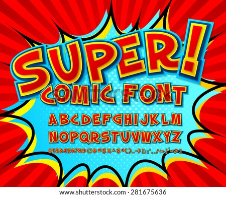 creative high detail comic font