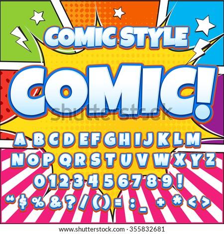 creative high detail comic font