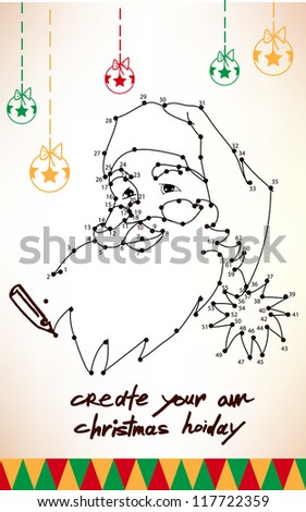 Creative hollidays illustration to create your holliday with deer