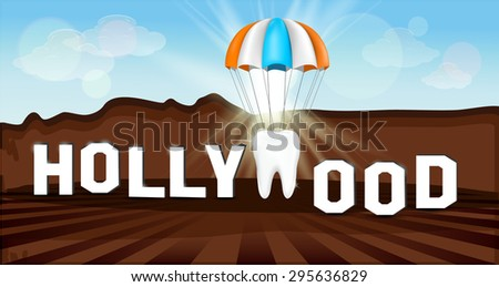 creative hollywood sign with a
