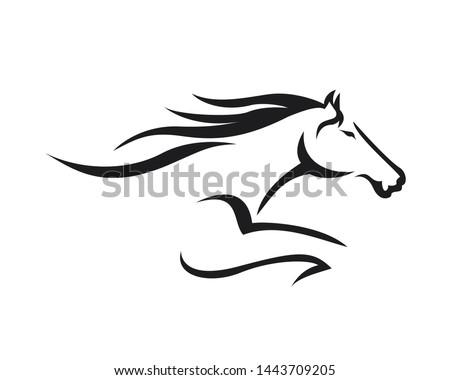 creative horse elegant logo
