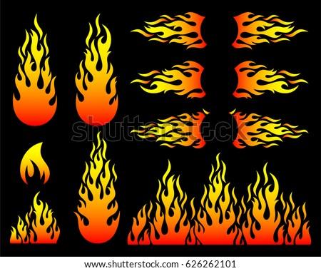 creative hot fire flame design