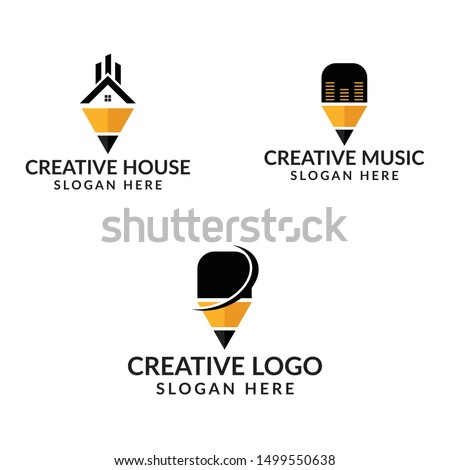 Creative house/creative/creative music logo design template