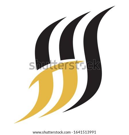 Creative HS logo design for financial business companies, technology companies