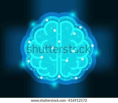 creative human brain,  idea vector illustration