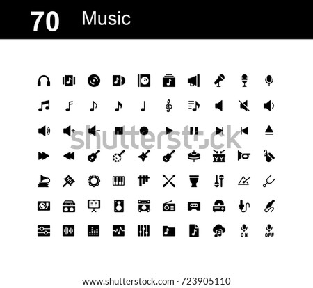 Creative icon set - Music