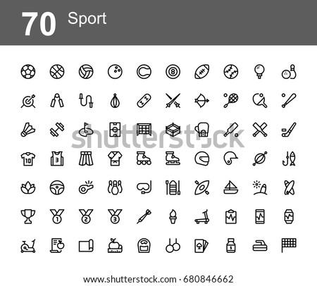 creative icon set   sport