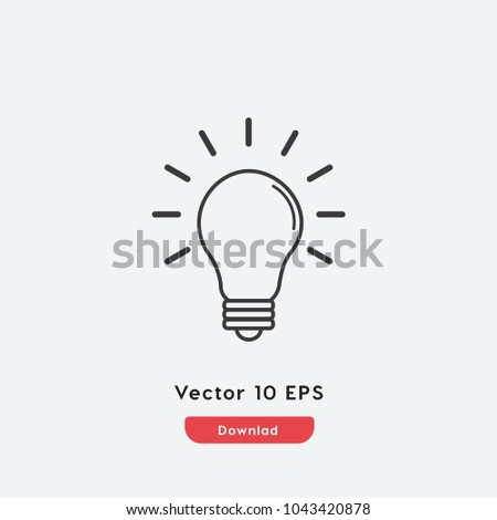 Creative icon vector. Creative symbol. Linear style sign for mobile concept and web design. Creative symbol illustration. Pixel vector graphics - Vector.