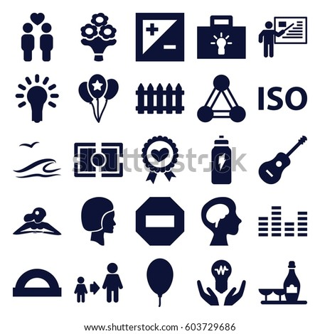 creative icons set set of 25