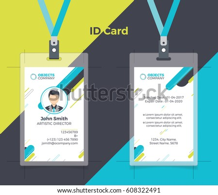 Creative ID Card Blue Yellow Color