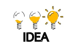 Creative idea.Concept of idea and innovation. Vector Illustration