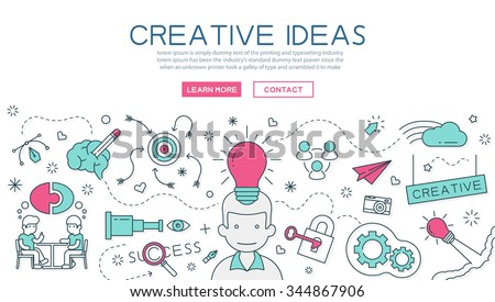 Creative Idea for website banner and landing page , eps10 vector format