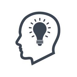 Creative idea icon vector graphic.