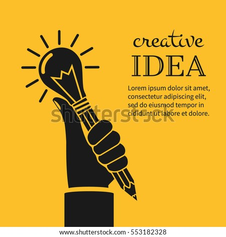 creative ideas concept hand