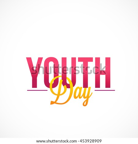 Creative illustration,banner or poster for International Youth day.
