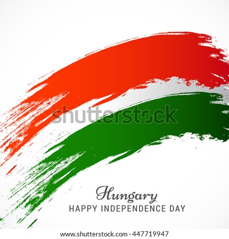 Creative illustration or poster for independence day of hungary.