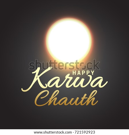 Creative Illustration,Poster Or Banner of indian festival of karwa chauth celebration. #721592923