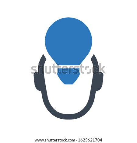 Creative imagination icon. vector graphics