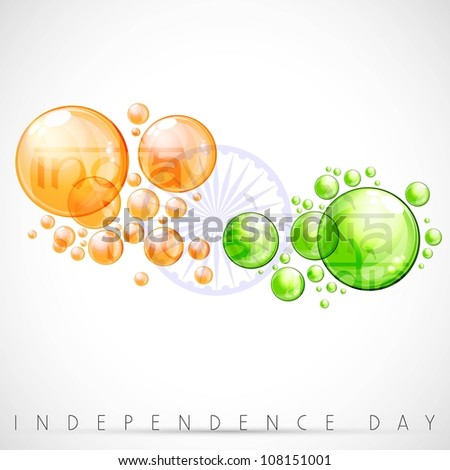 Creative Indian Flag background with water bubbles. EPS 10. - stock vector