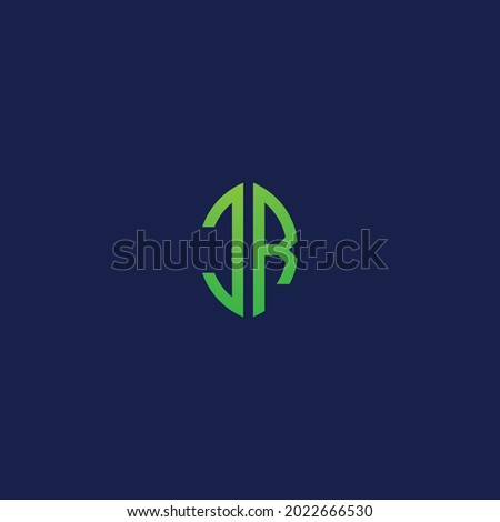 Creative initial letters CR with eco leaf shape logo.It will be suitable for which company or brand name start those initial. Photo stock ©
