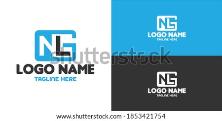 Creative Initial NLG for company logo, print, digital, icon, apps, and other marketing material purpose Stok fotoğraf ©
