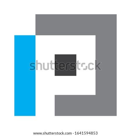Creative IPJ logo design for financial business companies, technology companies