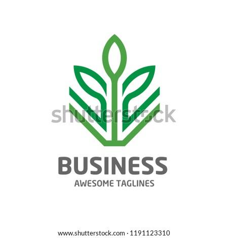 creative Leaf logo Eco graphic creative template, green environment decoration modern logo
