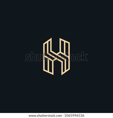 Creative letter H line vector designs