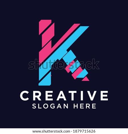 Creative Letter K Logo design vector template. Stock fotó ©