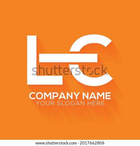 creative letter LE logo design template ,Initials logo, minimalist logo, flat logo design Photo stock ©