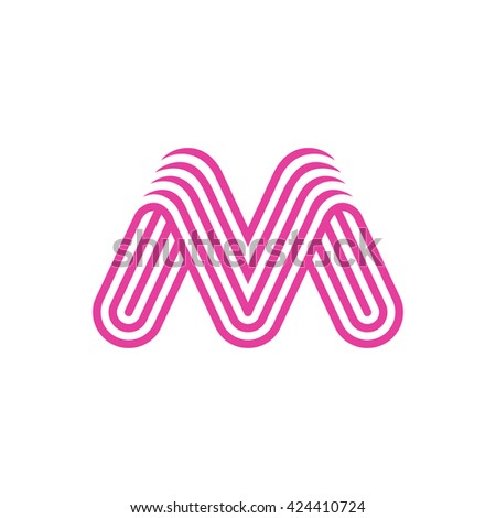 Creative Letter M Logo design vector template Linear. Type Character Symbol Logotype.