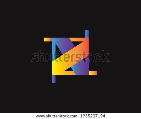 creative letter NZ logo design vector template Stock fotó ©