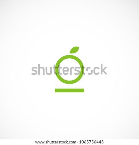 Creative letter O leaf vector design