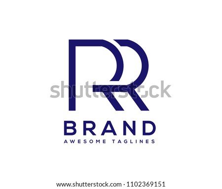 creative Letter RR logo design elements.