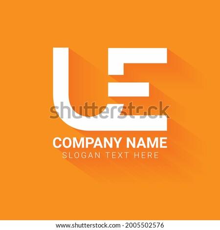 creative letter UE logo design template ,Initials logo,minimalist logo,flat logo design Foto stock ©