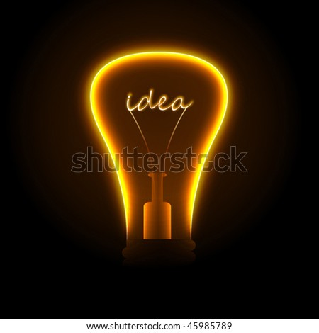 Creative light bulb. Vector. - stock vector