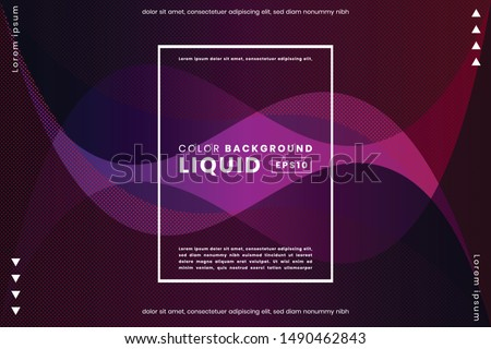 Creative liquid shape gradient background. Applicable for Poster template, landing page, ui, ux ,coverbook, baner, social media posted