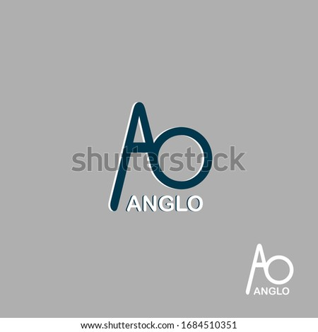 CREATIVE LOGO (ANGLO LOGO) and  icon DESIGN