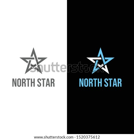 Creative logo design of letter NS and star with clean background - EPS10 - Vector. Stock fotó ©