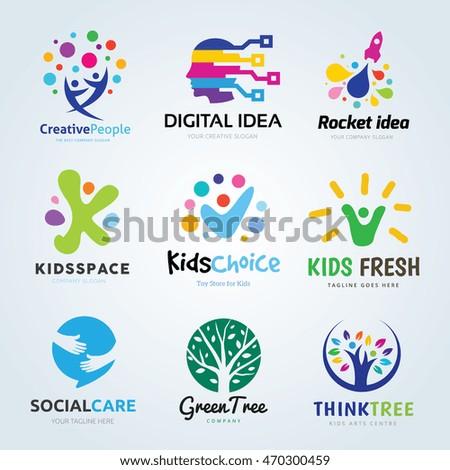 creative logo design set  brand