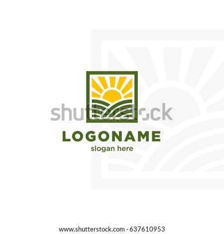 creative logo template ecofarm