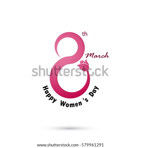 creative 8 march logo vector