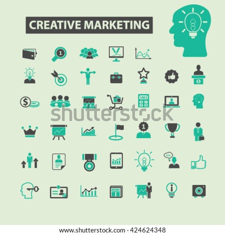 creative marketing icons