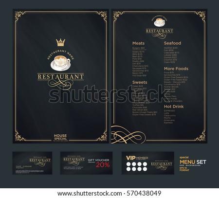 Creative menu design. Layout design, Design set for menu restaurant.