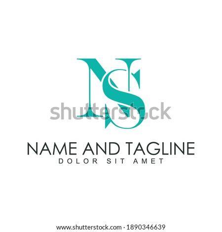 Creative Minimal Abstract Letter NS Luxury Premium Logo Stock fotó ©