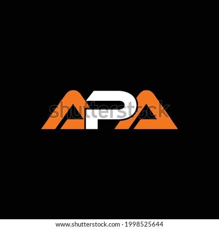Creative Minimal Alphabet Initial Letter Mark Monogram APA Logo A P Editable in Vector Format Stok fotoğraf ©