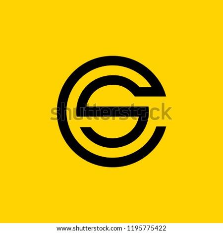 creative minimal CS logo icon design in vector format with letter C S Stock fotó ©