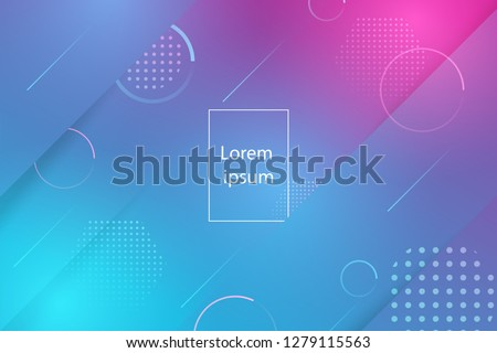 Creative minimal geometric shape and colorful effect with colorful background. Dynamic shapes composition and elements.Modern design in  Eps10 vector illustration.