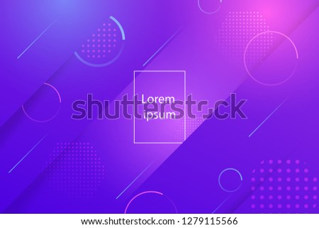 Creative minimal geometric shape with purple background. Dynamic shapes composition and elements.Modern design in  Eps10 vector illustration.